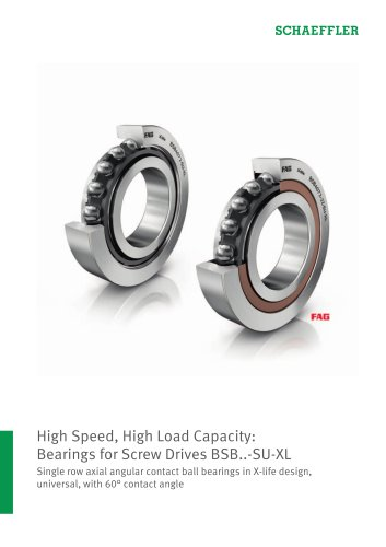 High Speed, High Load Capacity