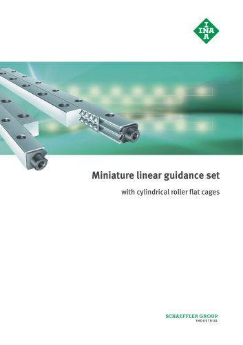 Miniature linear guidance set with cylindrical roller flat cages (MAI 79)