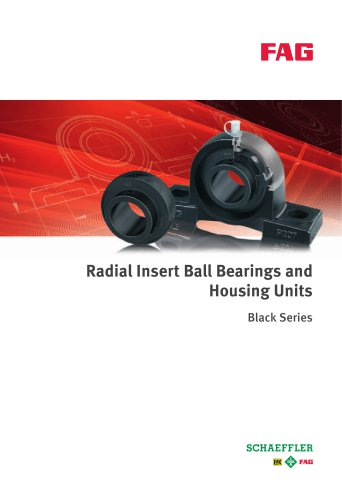 Radial Insert Ball Bearings and Housing Units Black Series