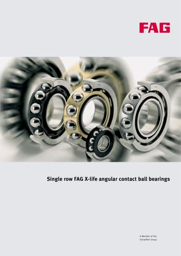 Single row FAG X-life angular contact ball bearings