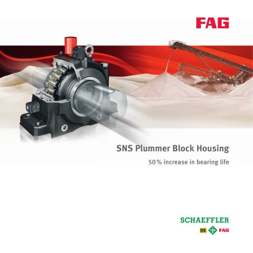 SNS Plummer Block Housing 50 % increase in bearing life