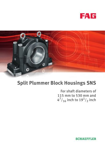Split Plummer Block Housings SNS