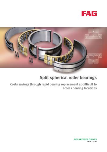 Split spherical roller bearings Costs savings through rapid bearing replacement at difficult to access bearing locations
