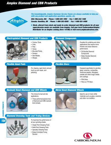 Carborundum CA1000 Amplex Superabrasives