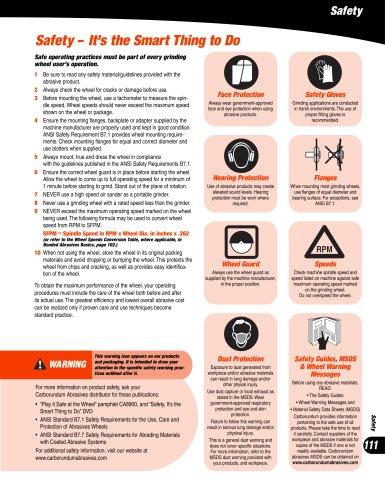Carborundum CA1000 Safety