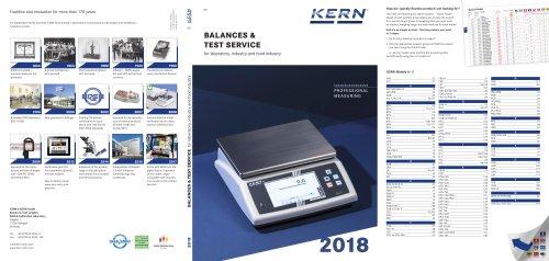 BALANCES & TEST SERVICE