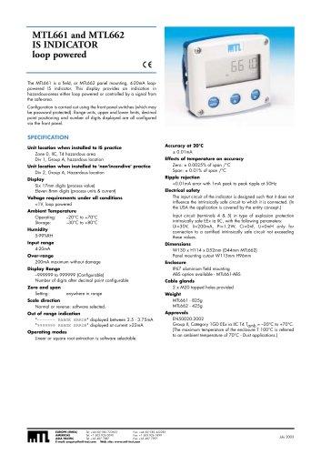 MTL 661-662 Indicator