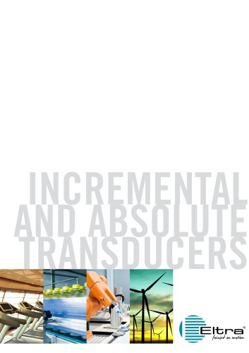 Eltra Leaflet Incremental and Absolute Transducers 2018