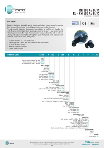 RH 200 A / B / C RL - RM 500 A / B / C