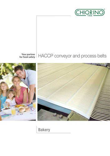 Food - Bakery - HACCP Conveyor and process belts