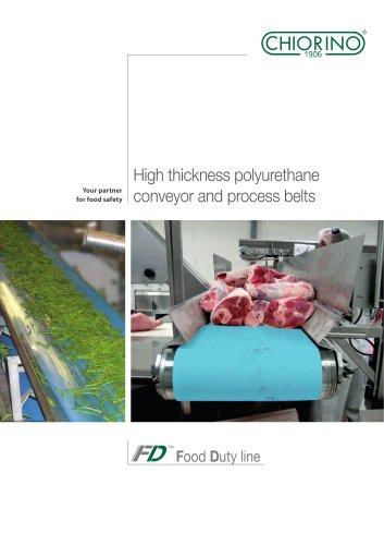 Food - High thickness Polyurethane Food Duty Conveyor belts