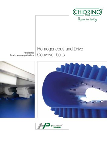 Food - Homogeneous and drive belts HP Compact