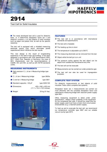 2914 Solid Test Cell