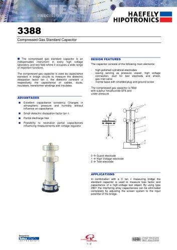 3383 25 kV Standard Gas Capacitor