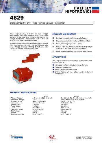 4829 Standard Voltage Transformers