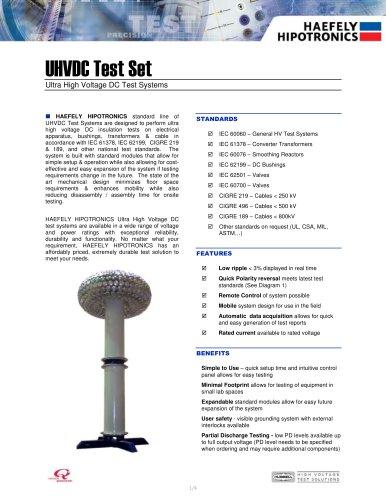UHVDC - Applied DC Testing