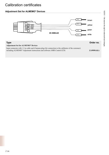Adjustment Set for ALMEMO ®  Devices