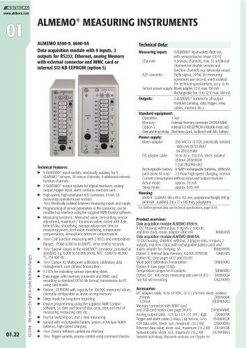 ALMEMO 8590-9, 8690-9A Data acquisition module