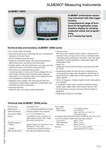 ALMEMO ®  Measuring Instruments