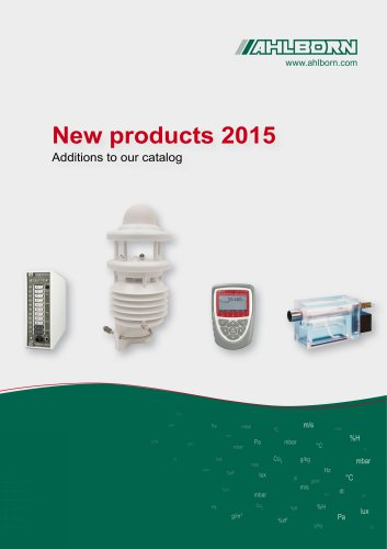 New products 2015 Additions to our catalog
