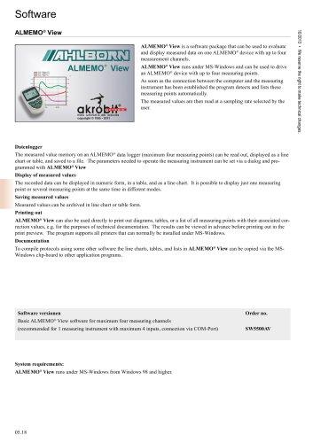 Software ALMEMO ®  View
