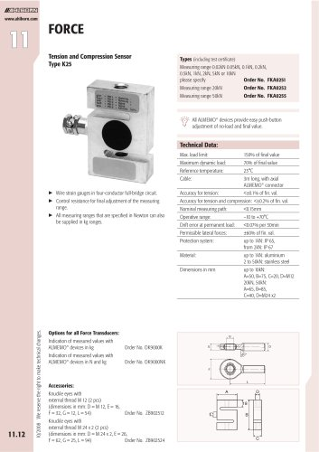 Tension and Compression Sensor Type K25