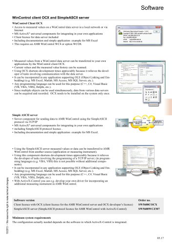 WinControl client OCX and SimpleASCII server