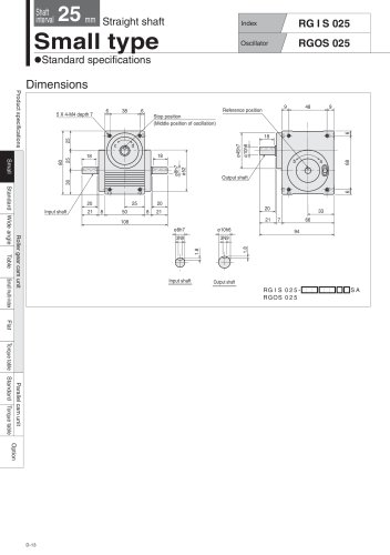 Roller gear cam unit  Small type RGIS_RGOS   RGIS_RGOS025