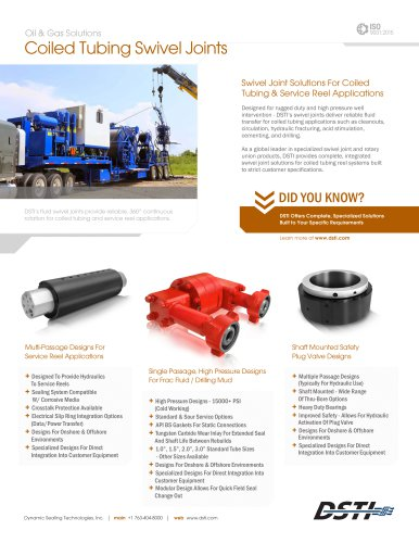 DSTI Sell Sheet - Coiled Tubing & Service Reels