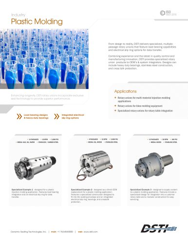 DSTI Sell Sheet - Plastic Molding