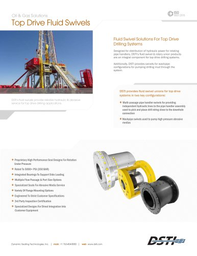 DSTI Sell Sheet - Top Drive Systems