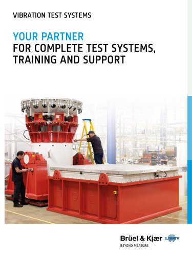 VIBRATION TEST SYSTEMS  For complete Test Systems, Training and Support