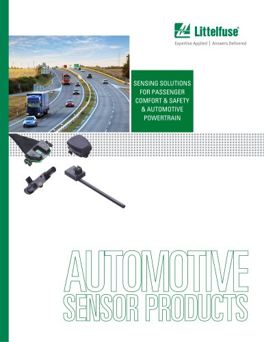 Automotive Sensor Products Brochure
