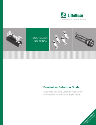 Littelfuse Electronic Fuseholder Product Selection Guide