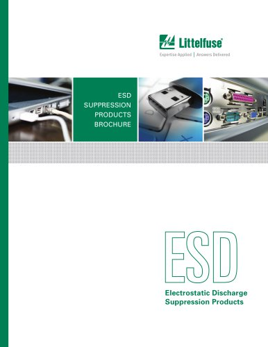 Littelfuse Electrostatic Discharge Suppression Products Catalog