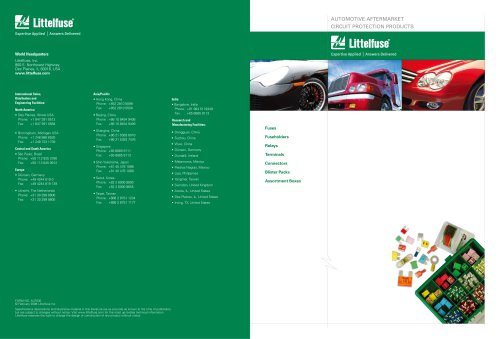 Littelfuse International Automotive Aftermarket Catalog