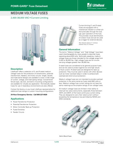 Littelfuse Medium Voltage Product Brochure