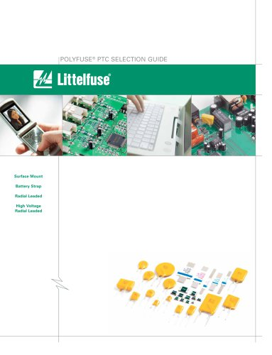 Littelfuse Polyfuse PTC Selection Guide