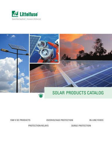 Littelfuse Solar Products Catalog