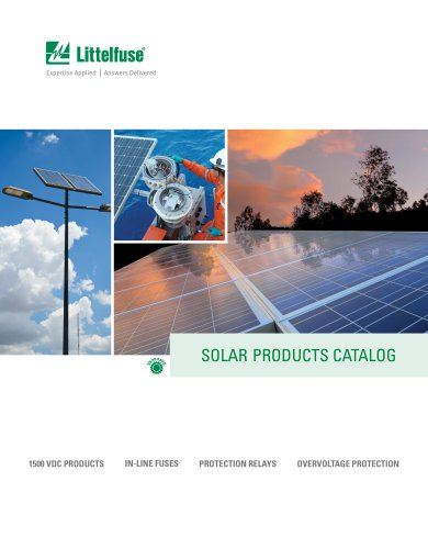 SOLAR PRODUCTS CATALOG