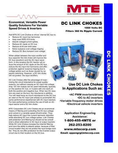 DC Link Chokes - MTE - PDF Catalogs   Technical