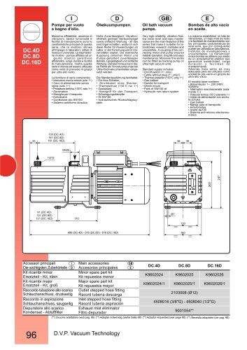 HIGH VACUUM PUMP DC.4D