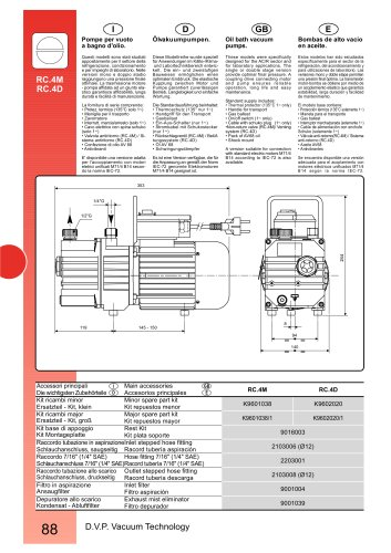 HIGH VACUUM PUMP RC.4D 220-240/50-60