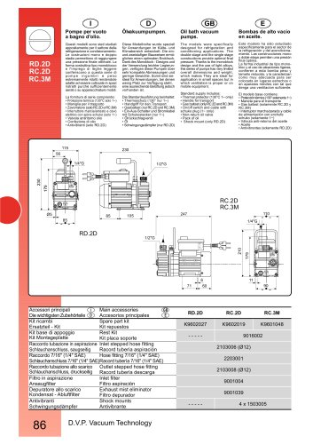 HIGH VACUUM PUMP RD.2D