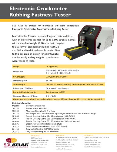 Electronic Crockmeter Rubbing Fastness Tester