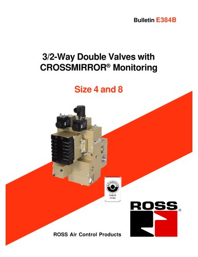 3/2-Way Double Valves with CROSSMIRROR® Monitoring