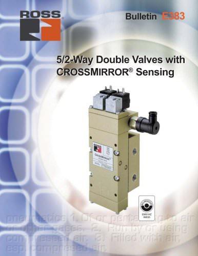 5/2-Way Double Valves with CROSSMIRROR® Sensing