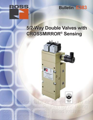 5/2-Way Double Valves with CROSSMIRROR® Sensing