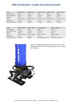 TAWI VacuEasylift - models and technical details Any questions?
