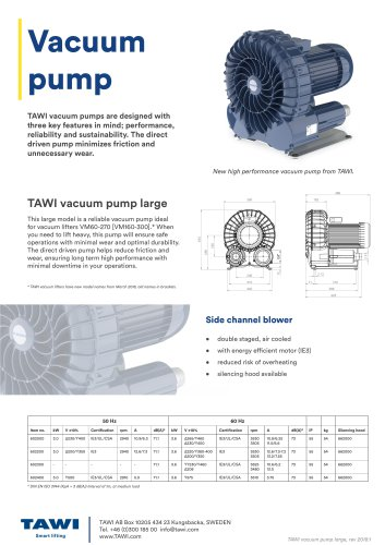 Vacuum pump large